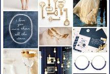 Navy gold wedding