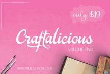 The Craftalicious Bundle - Vol. 02 / Check out our second edition of the bestselling 'Craftalicious bundle'. A pack that is full of fabulous fonts and gorgeous graphics, all fully accessible to crafters.