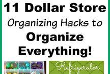 Dollar Store Organizing Ideas / organizing, dollar store ideas,