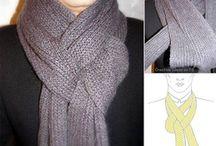 Schal und Tücher binden
