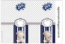"""KIT""""URSINHO PRÍNCIPE"""" / Artes Digitais http://digitalsimples.blogspot.com.br/2015/06/kit-aniversario-ursinho-principe-azul.html"""