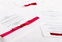 Exquiste Wedding Invitations & Stationery / Handmade wedding invitation and stationery collection, featuring a beautiful frame illustration and diamantes.