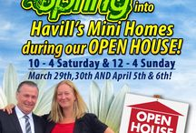 Open Houses / Twice a Year, we open up our exclusive mini homes for an Open House, EVERYONE has the opportunity to take a walk through our most popular models and see why a Havill's Home IS different!   www.havillsminihomes.com