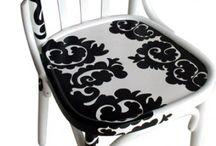Καρέκλες ντεκουπαζ-Πινακες-Δισκους *******