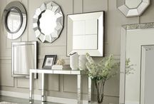 Sleek & Shiny Furniture / Reflect your style with something that shines. Try adding Mirrors (or mirrored accents, a table, for example) for a touch of class and sleek elegance.