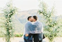 New destination Weddings / This beautiful same sex wedding featured in Magnolia Rouge!