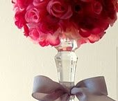 Candlestick rose centerpiece