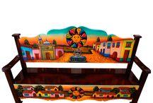 Magia y Mueble: Bancas de recepción / Una gran variedad de colores reflejar la belleza con un toque mágico a través de formas, colores y texturas que hacen sentir la esencia de México. Nuestros productos representan la pasión y dedicación que empeñamos a nuestro trabajo.