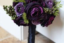 Wedding flowers / Wedding flowers to go with my Plum and Gold theme wedding