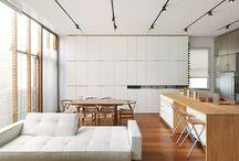 interiors livingroom kitchen