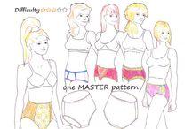 Merckwaerdigh Digital MINI-COURSES for lingerie / Digital lingerie mini-courses by Dutch designer Merckwaerdigh : learn how to design your own lingerie based on an included MASTER pattern!
