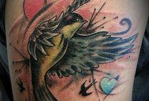 Swellow tatoo / Copertura vecchio tatuaggio
