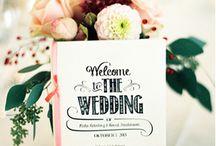 Programblad bröllop