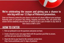 12 Days of Pinterest / American Music Theatre's 12 Days of Pinterest contest. All pins feature images of items all found within the Hershey Harrisburg Region! http://www.pinterest.com/amtshows/12-days-of-pinterest/
