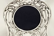 Antique gold, silver & enamel photo frames