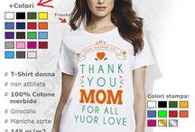 Festa della Mamma / Fai un regalo speciale per la Festa della mamma! Qui puoi trovare idee regalo originali solo per Lei: magliette e t-shirt a tema con motivi  per la Festa Della Mamma.