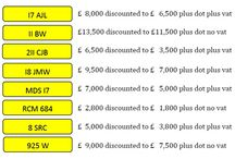 March Special Offers / Eight Number Plates on offer for the month of March