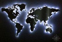 Weltkarte wand