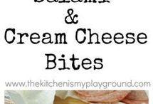 salami and cheese bites