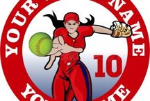 Customized Softball Logo / Create your own Softball logos with names, nicknames, anniversary dates, birthday on it to make iron-on transfers, decals stickers, patches, labels, etc. You also can change background, foreground, images inside the circles. No Minimum Order. If you have any ideas about the Softball logos, give it a shot, you would like the logos which are involved with your thoughts.