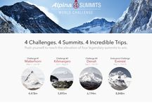 "Alpina 4 Summits World Challenge / ""Alpinist"" of the world unite! Become the World Elevation Champion. From May 1st to October 31st 2014. 4 Challenges, 4 Summits, 4 Incredible trips to win. Download the Alltrails app on App Store or Google Play and participate! www.alltrails.com"