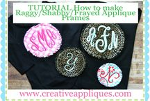 TUTORIALS HOW TO APPLIQUE / Instructions on How to Applique  www.creativeappliques.com; www.facebook.com/creativeappliques   / by Creative Appliques