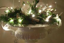 Kerst bloemen decoraties
