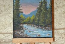 Mine and others acrylic mini canvases / by Yessica Sinisterra