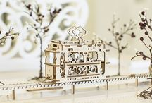 DIY genius wooden mechanical 3D puzzles from Ugears
