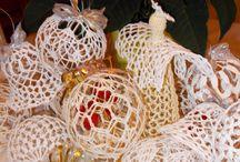 ozdoby świąteczne / ozdoby świąteczne, szydełko , quiling