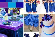 Purple, royal blue and turquoise wedding