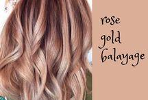 Rose gold balayage