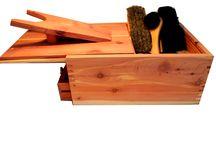 Coffret bois / Coffret bois en cèdre à offrir pour les fêtes