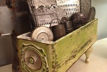 old sewing machines & drawers