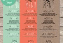 menu cards table