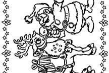placemat  kleurplaat kerst