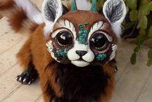 animal art doll