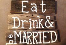Wedding custom signs