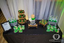 Emerald City / LaShawn's very own Emerald City. A 40th birthday soiree dripping in green and gold. Event planned and styled by Out of the Boxx Events.
