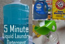 Homemade cleaners-detergents / by Wanda Detrow