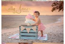 One year old Birthday Session on beach
