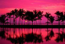 Cielo de color rosa