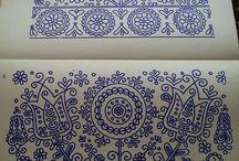 Bou Ethnographic motifs/Kék motívumok