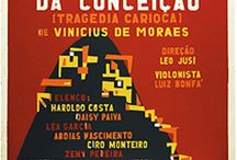 Orfeu da Conceição Play (1956) / Stage play written by Vinicius de Moraes in 1954, based on the Greek mythology Orpheus and Eurydice. The soundtrack of the play was released on vinyl in 1956, the Odeon, with music written by Antonio Carlos Jobim and Vinicius. / by Black Orpheus Musical