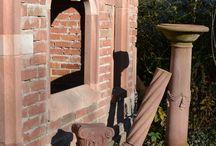 Ateliergarten / Skulpturen und Installationen in unserem Garten
