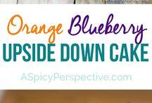 Desert / Blueberry orange upside down cake