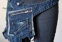 ремень из джинса