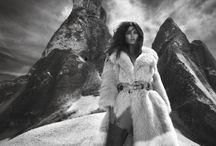 Winter glamour / Glamorous winter editorial