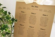 Wedding Table Seating Plans / Wedding table seating plans so help seat your guests,  Rustic, Vintage, contemporary and traditional designs.