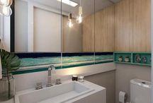 Banheiro moderno / Um banheiro moderno pode ter uma carinha convencional, um tanto quanto clássica, mas com materiais nobres que o diferencie destes estilos tradicionais.